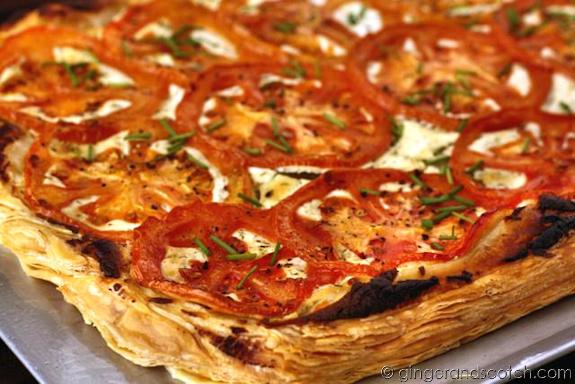 Goat Cheese Tomato Tart