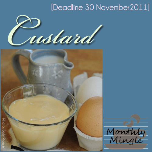 meeta's monthly mingle badgle - custard