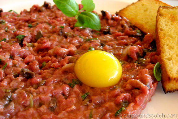 Steak Tartare with Quail Egg @ The One and Only, the Palm
