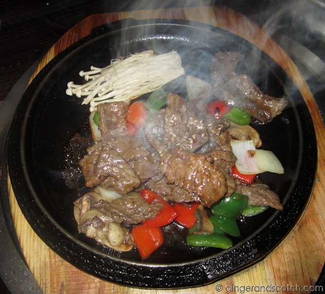 Korean stir-fried beef with veg