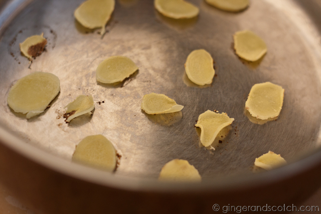 Dry Frying Ginger