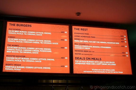 The Burger Joint - Menu