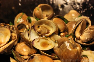 Clams with Asian Basil Sauce - Ready to be eaten!