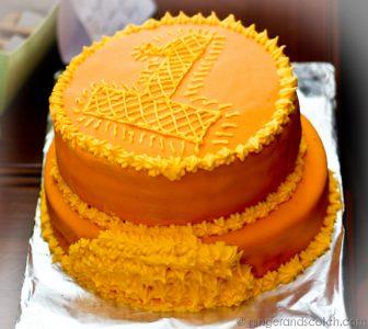 Layered Fondant Cake