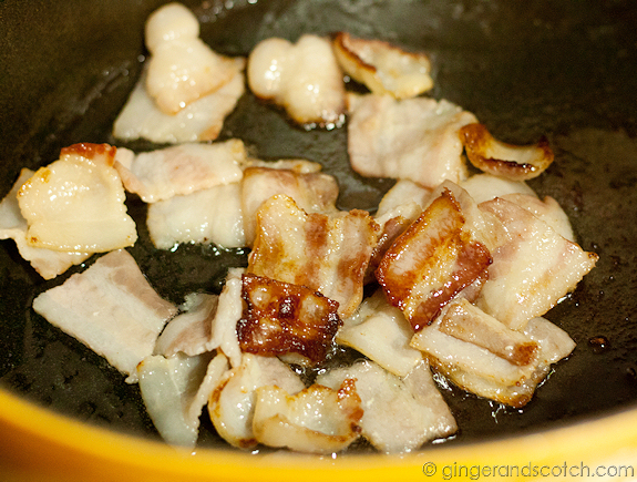 Browning the Maple Bacon