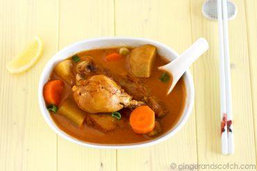 Vietnamese Chicken Curry Soup