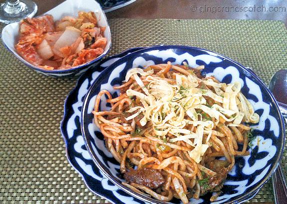 Fried Lagman with Kimchi