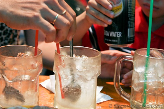 soda water with sugar
