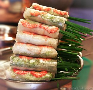summer rolls with pork and shrimp