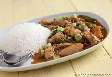 Chicken Stir-Fry with Thai Chilli Kaffir Lime Sauce