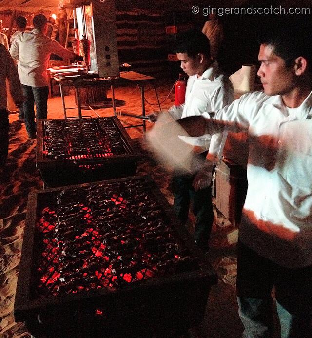Dubai Drums - grilled food