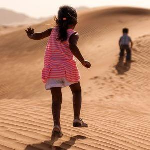 Camping Somewhere in the Dubai Desert