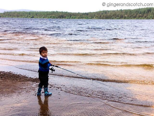 Fishing at Loch Morlich