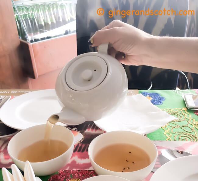 Black tea at Tashkent restaurant
