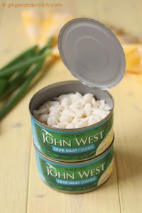 John West Crab Meat in a Can