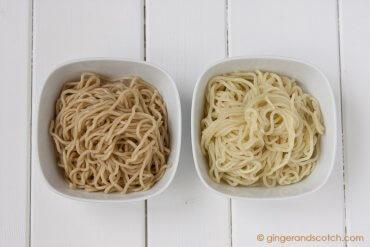 Ramen Noodles with AP flour and bread flour