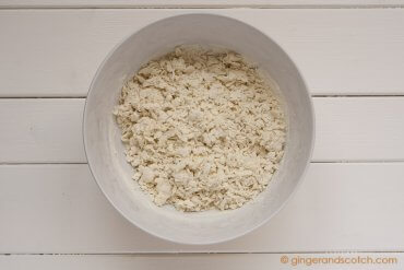 Mixing flour and alkaline water