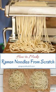 Learn to make homemade ramen noodles from scratch