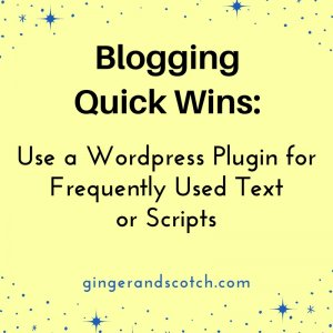 Use a WordPress Plugin for Frequently Used Text or Scripts