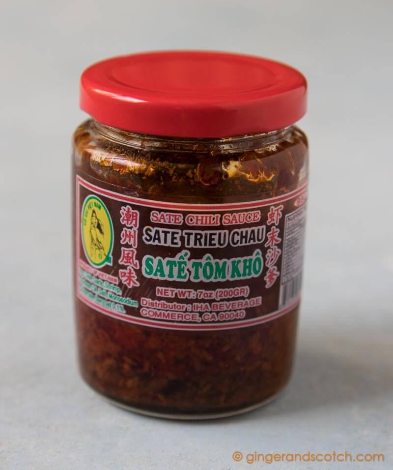 Chili Sauce used for Vietnamese Sate Noodles (Mi Bo Sate)